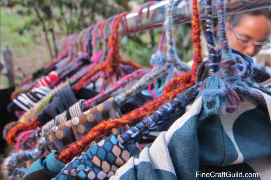 I love yarn day - yarn bomb Paris, France - FineCraftGuild.com