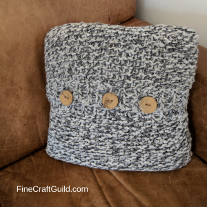 Easy Chunky Pillow Knitting Pattern