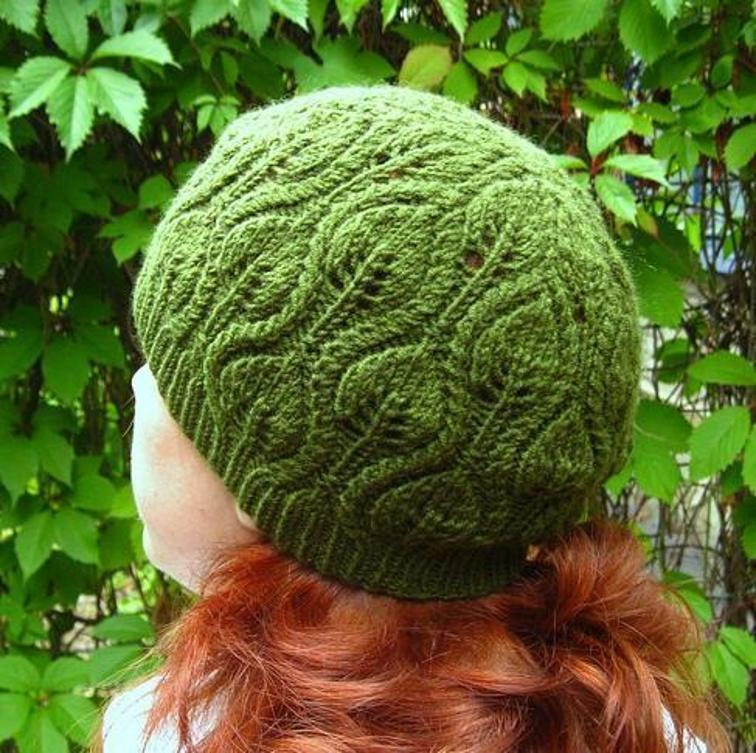 Foliage, one of the prettiest knit hat patterns in this lineup - Best Knit Hat Patterns for Women this Fall