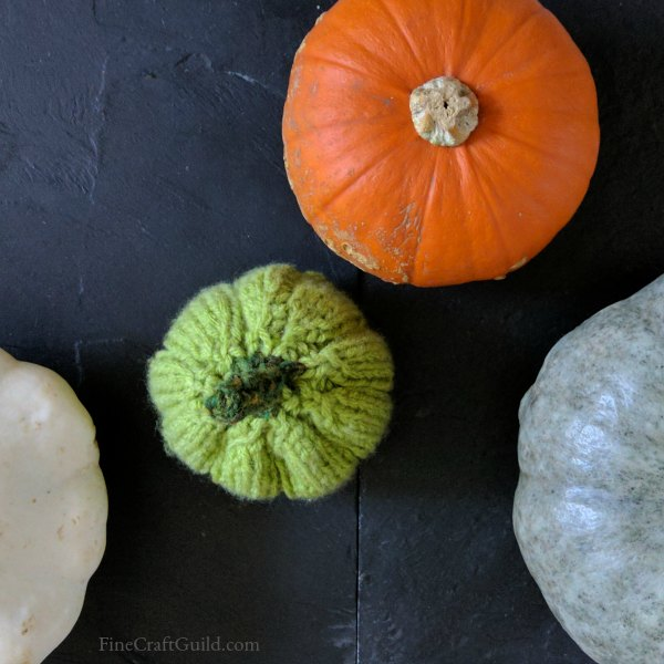 Easy, Flat Knitted Pumpkin Pattern - shapable, hollow 3D form