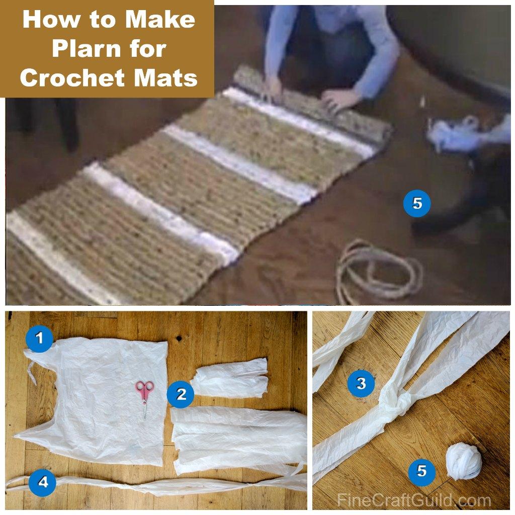 How to make plarn for crochet mats and crochet flowers