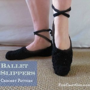 womens lace up ballet shoes crochet pattern