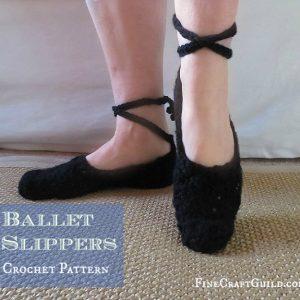 womens lace up ballet shoes crochet pattern