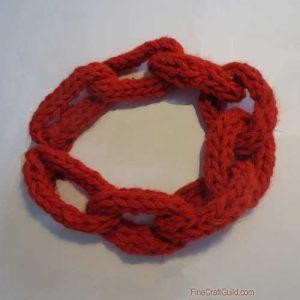 chunky chain finger knitting pattern