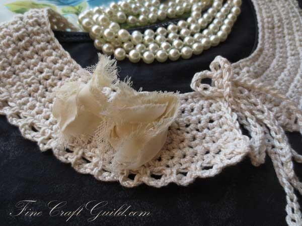 detachable lace peter pan collar crochet pattern