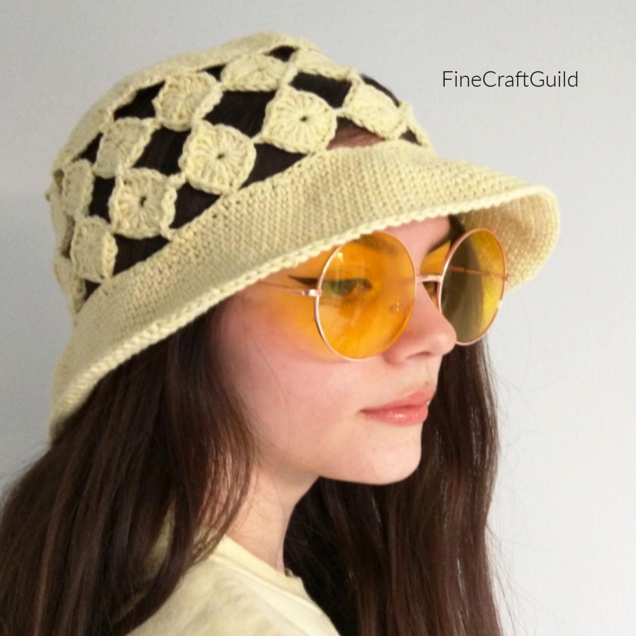 Summer Hat Crochet Pattern  Pampelonne – ever so Trendy!