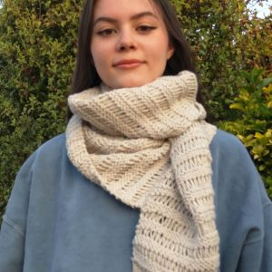 Pastel Scarf Knitting Pattern Easy Fast