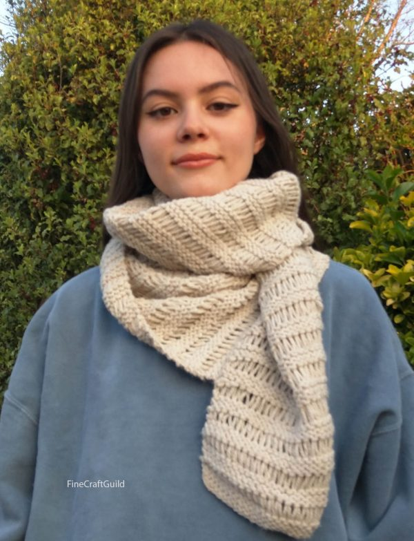 Fashion Scarf Knitting Pattern Easy Fast
