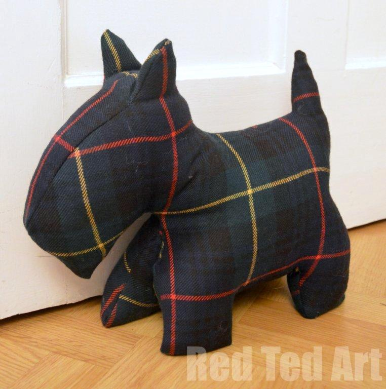 Scottie dog free toy sewing pattern