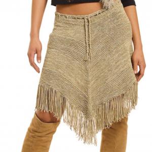 Fringe skirt knitting pattern - berrocco