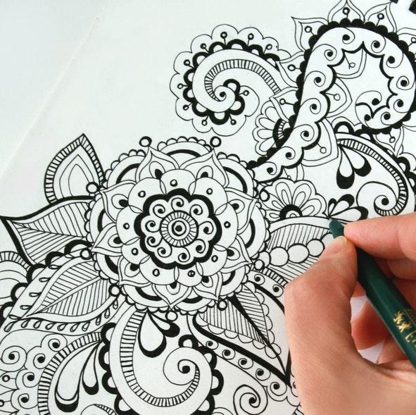 mandala drawing - how to draw a mandala step by step