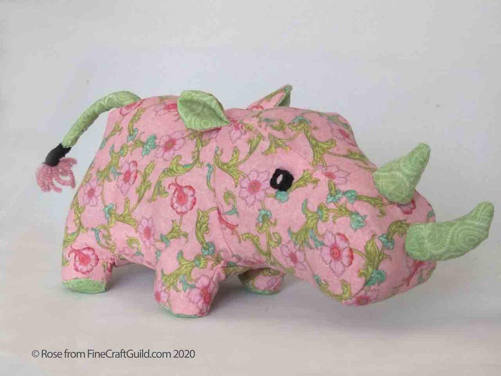 Rhinoceros Stuffed Animal Sewing Pattern