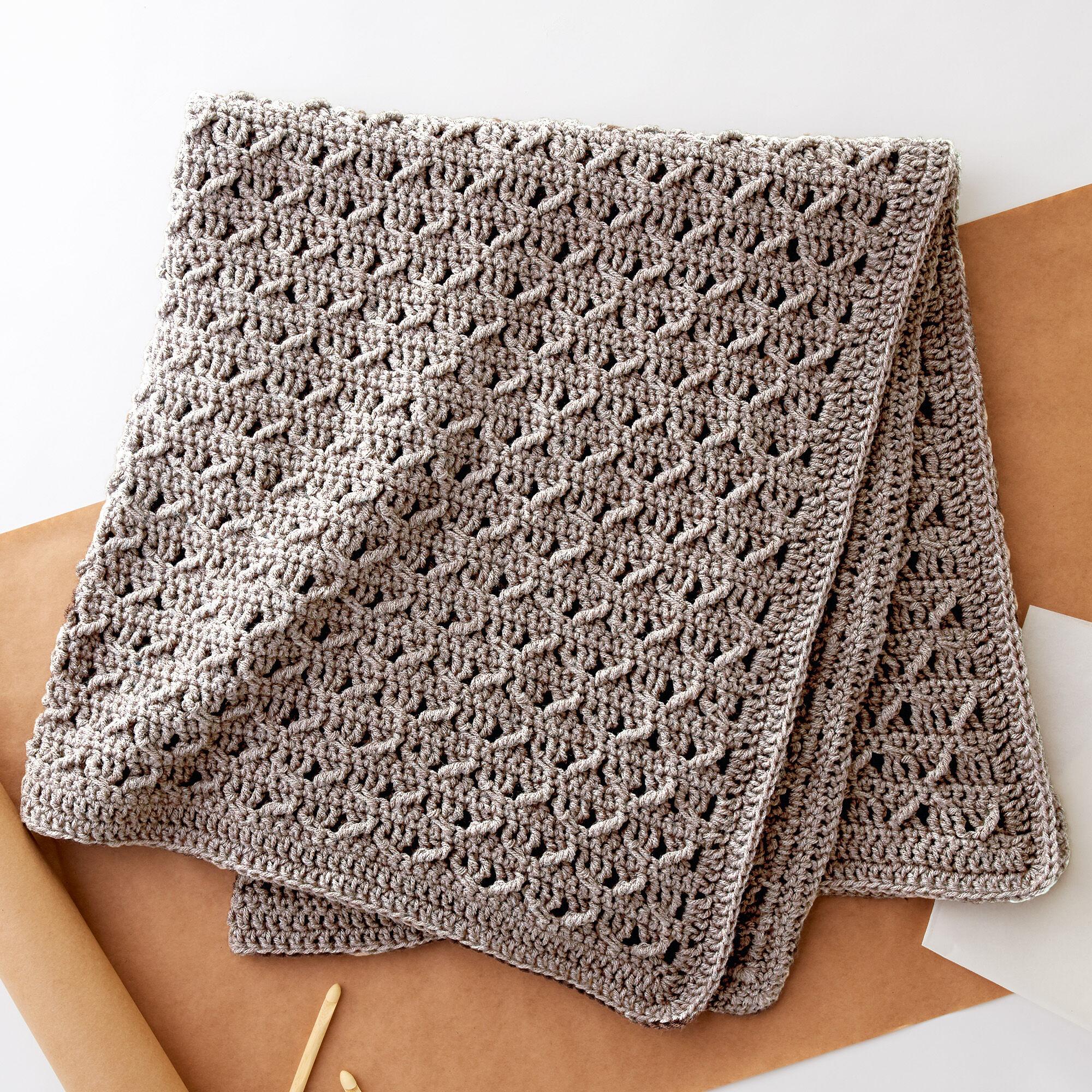 Easy Afghan Blanket Crochet Patterns – gorgeous free lattice design