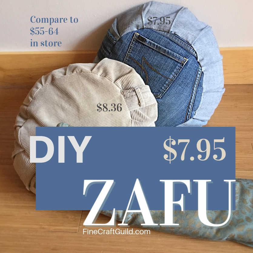 DIY zafu buckwheat hulls, FineCraftGuild.com