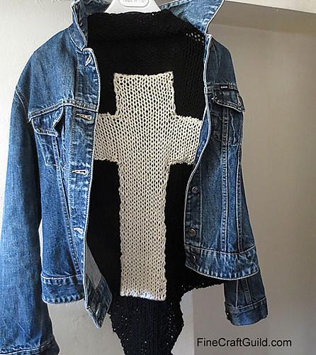 easy oversized triangle shawl knitting pattern