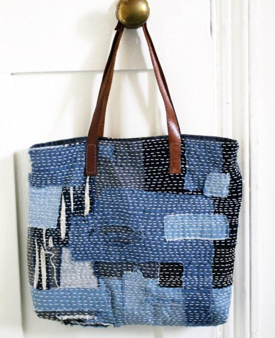 Sashiko Embroidery Pattern - Bag Project