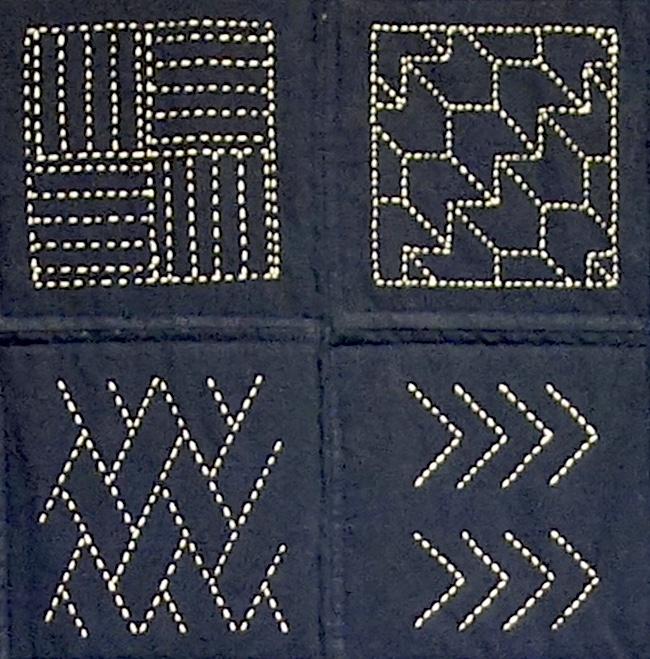 how to sew sashiko embroidery