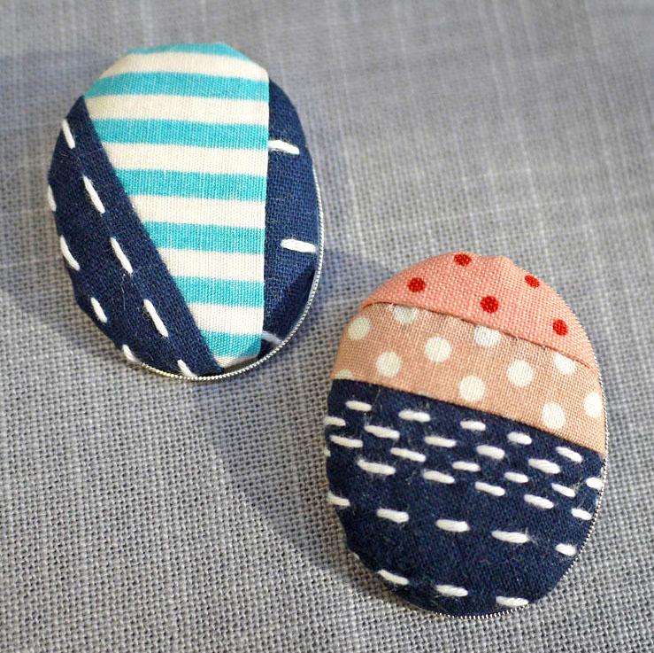 Sashiko Embroidery Pattern - Brooch Project