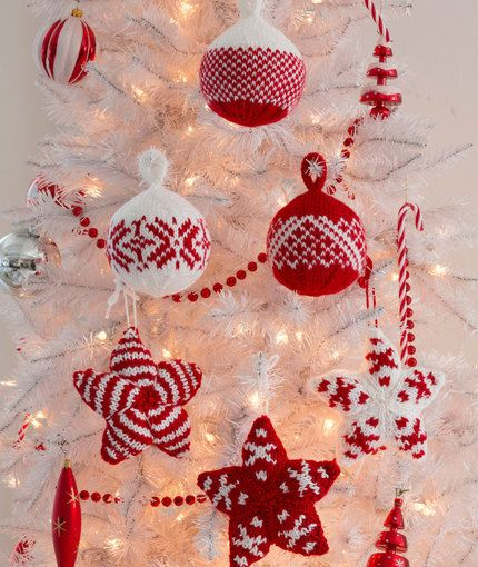 Christmas Ornaments Knitting Pattern Sets